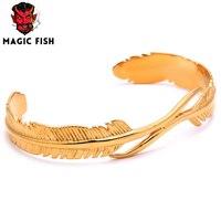 Stainless Steel Bracelet Bangle For Women Men Punk Jewelry Takahashi Goro Simple Bracelet Eagle Feather Titanium