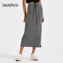 Casual Marled Women Skirts