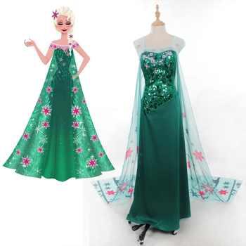Fever Elsa Snow Queen Princess Cosplay Costume Adult Women Handmade Elsa Dress Fancy Summer Dress Halloween Costume Custom Made - DISCOUNT ITEM  7% OFF All Category