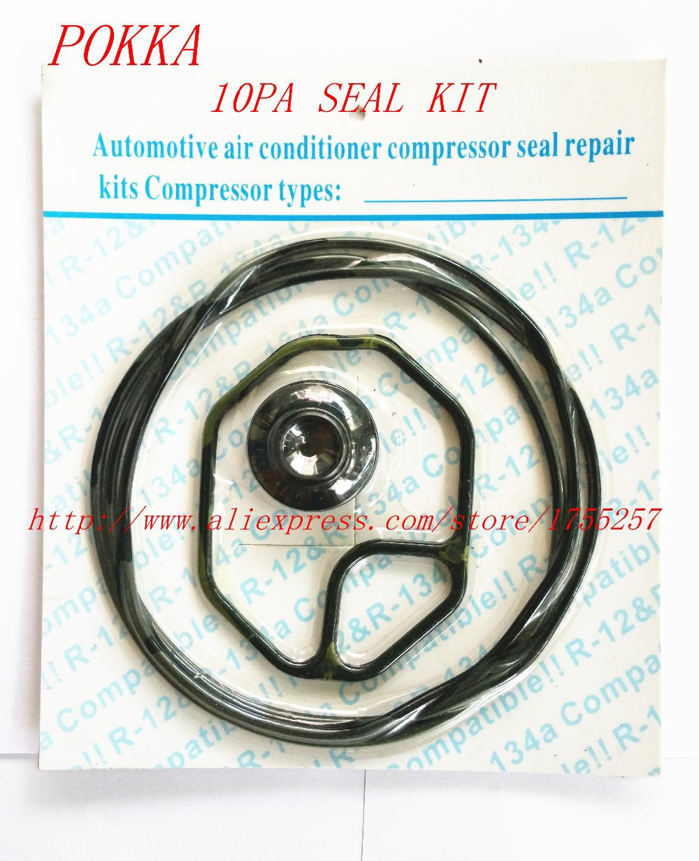 Free Shipping,Automotive air conditioning compressor seal kit for 10pa 15C 17C compressor oil seal,rubber o-ring seal 6pcs one carton automotive air conditioning compressor refrigeration oil pokka brand 4l compressor refrigeration oil
