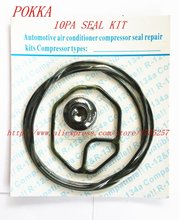 Free Shipping,Automotive air conditioning compressor seal kit for 10pa 15C 17C compressor oil seal,rubber o-ring seal