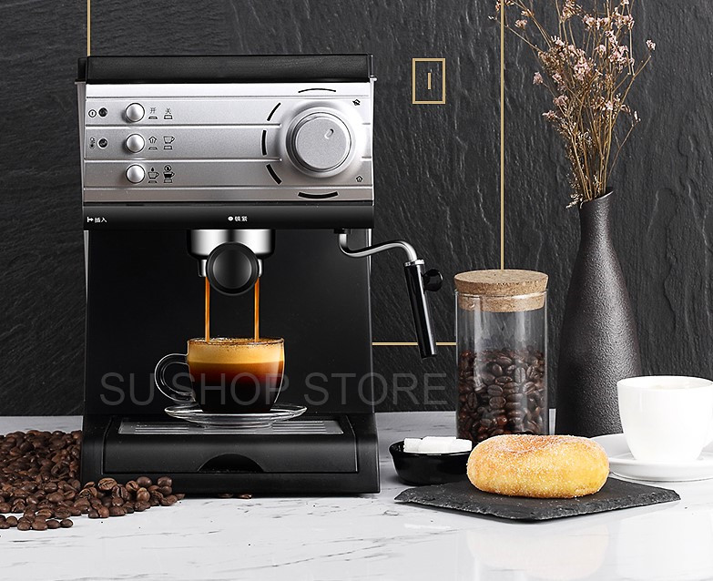 20 Bars Espresso Pump 1.5Liter Water Tank Coffee Machine Home Office Coffee Machine Espresso Semi automatic Commercial Office
