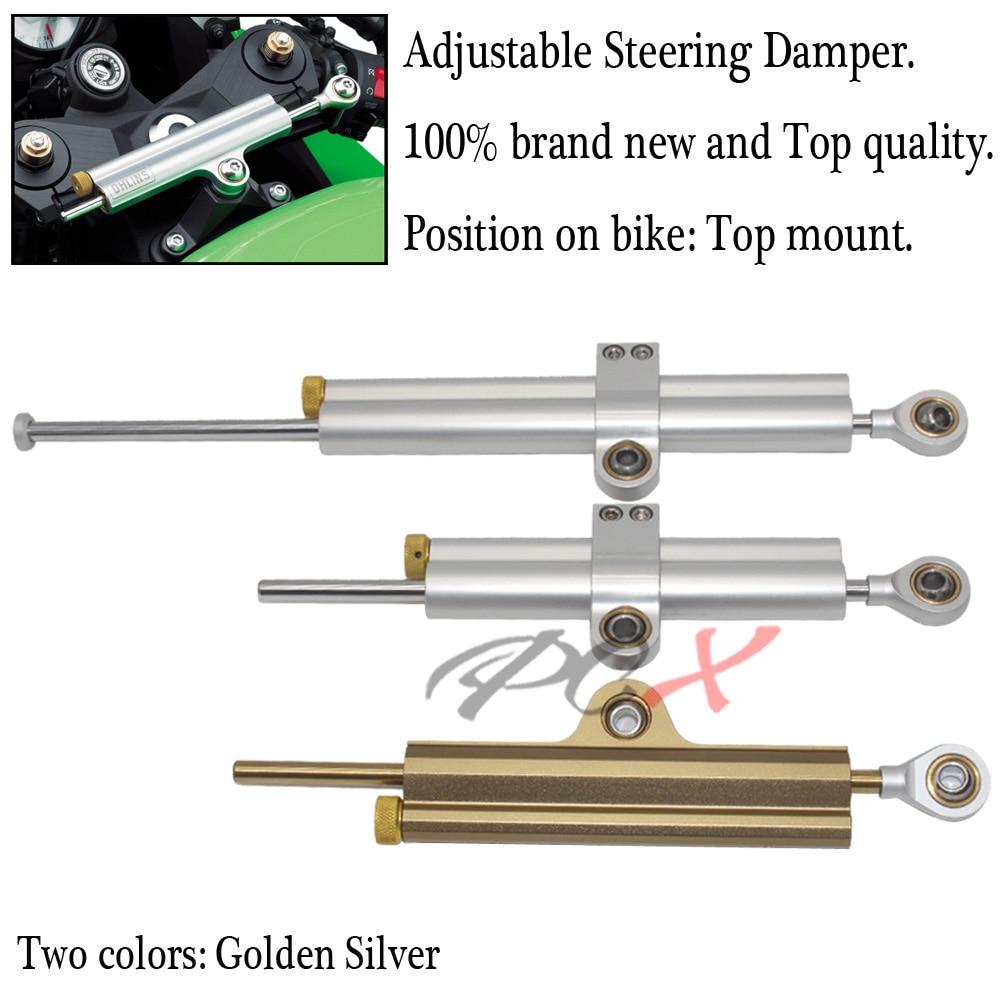 Pour SUZUKI GSR 400 600 750 GSX-S750/GSX-S1000/F CNC universel en aluminium moto amortisseur direction stabiliser contrôle de sécurité