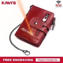KAVIS تتفاعل الحرة النقش حقيقية بقرة محفظة جلدية رجالي محفظة نسائية للعملات المعدنية الذكور Cuzdan محفظة رجل Portomonee صغيرة صغيرة جيب الجوز