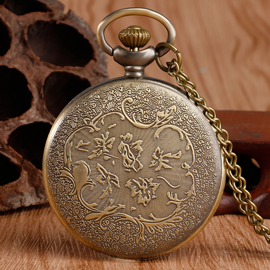 Hot Selling Classic The Little Prince Movie Planet Blue Bronze Vintage Quartz Pocket FOB Watch Popular Gifts for Boys Girls Kids 2019 2020 2021 2022 2023 2024 (3)