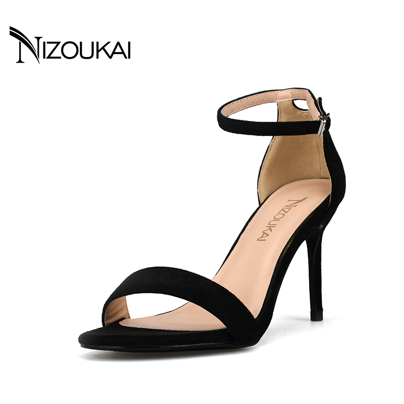 Summer High Heel sexy Sandals Sexy Open Toe Ankle Strap Shoes Ladies sandals Dress Sandalias Mujer lyx1-r8 sexy clear pvc nymphette sandals 2017 cross strap summer ladies shoes woman lace up gladiator sandals high brand sandalias mujer