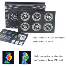 6pcs Radiation Protection Phone Sticker Round Quantum Shield for Mobiles VDX99 цена в Москве и Питере