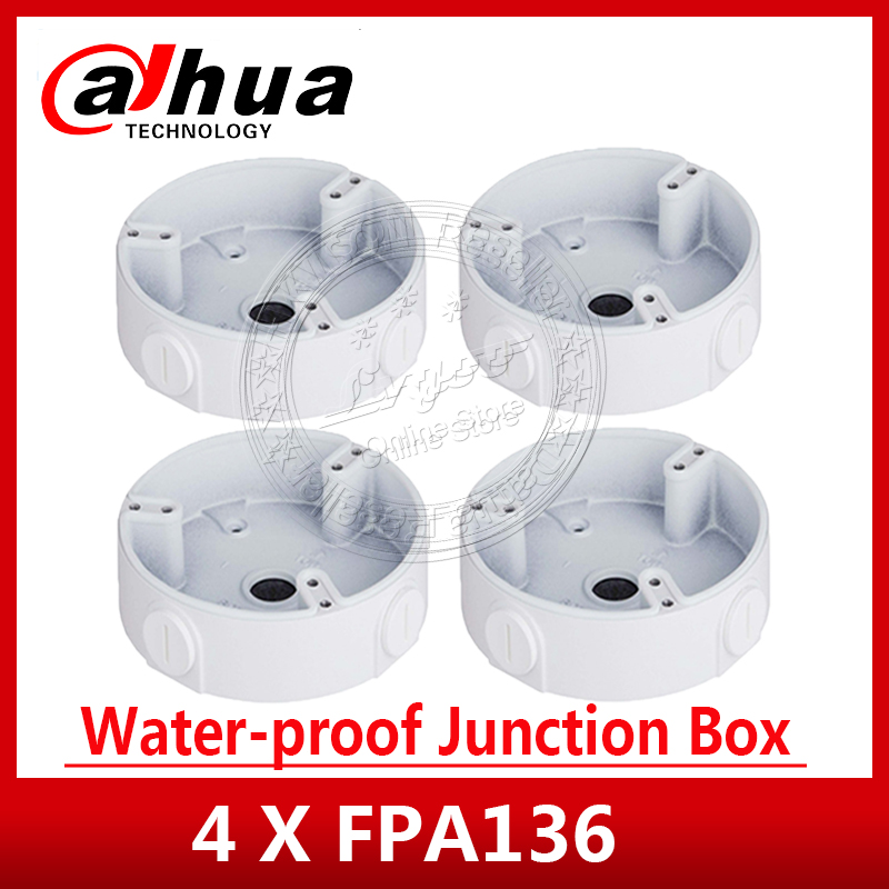 4 Pieces Lot Dahua Original PFA136 Waterproof Junction Box Aluminium Bracket for IPC HDW4433C A IPC
