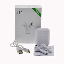I11 TWS беспроводные стерео наушники 1:1 Air Pods Bluetooth 5,0 беспроводная гарнитура Авто сопряжение спортивные наушники для Iphone 7 8 Android