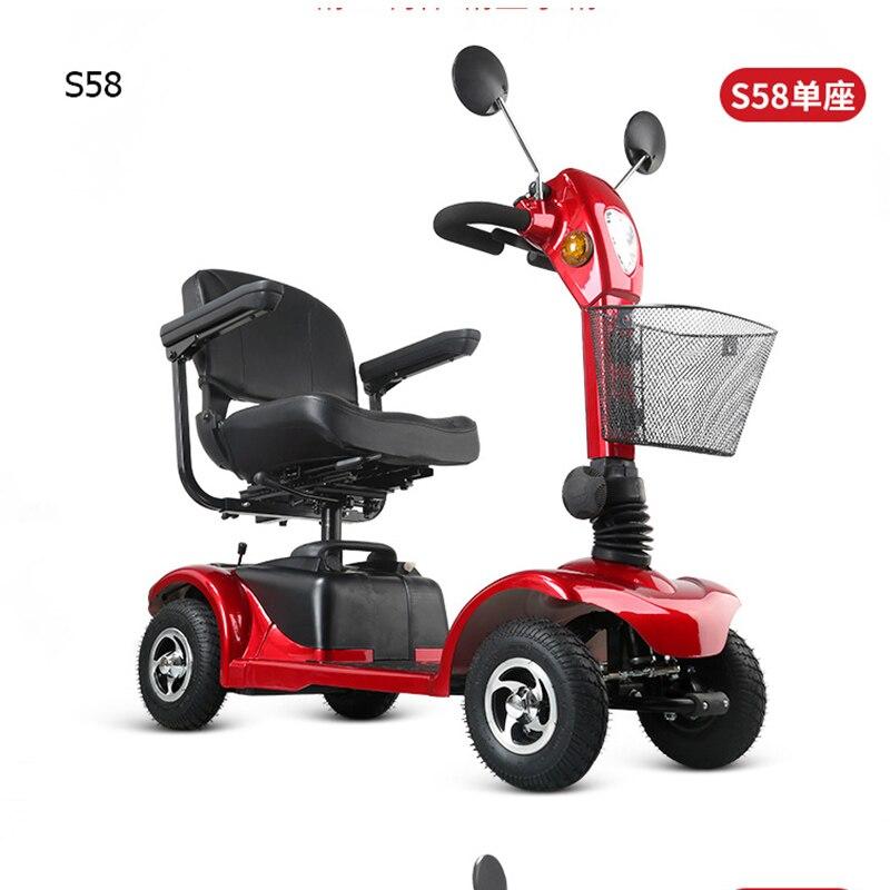 ENGWE Alta qualidade Elétrica 4 4-Roda Scooter para Deficientes Idosos Cadeira de Rodas Médica Portátil Viagem Scooter Elétrico para Adulto