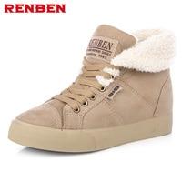 Nuevos botines calientes de las mujeres botas de nieve botas de piel de moda femenina y otoño invierno de las mujeres calza # Y10308Q