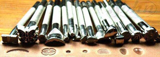 16X Saddle Leather Stamping DIY Craft Making Working Tool Punch Press Stamp Set