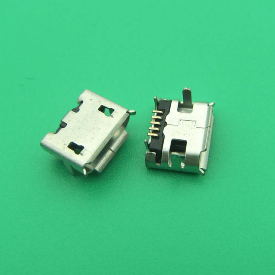 500pcs/lot Widely Use Micro USB 5P,5-pin 5Pins Micro USB Charging Connector Jack For Cell Phone/Tablet PC