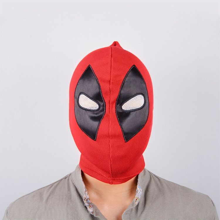 Deadpool Mask Costume Headset Cosplay PU Leather Halloween Full Face 10pcs lot High Quality