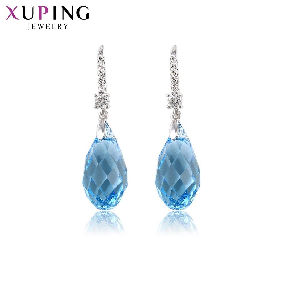 11.11 Xuping boucles d'oreilles Style européen cristaux de Swarovski romantique pour les femmes cadeau de mariage filles bijoux S142.9-92641