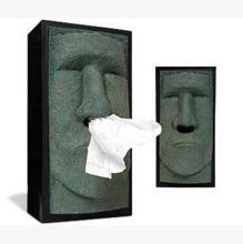 Easter stone man paper box Moai towel tissue Tissue Storage Creative home storage and Decoration