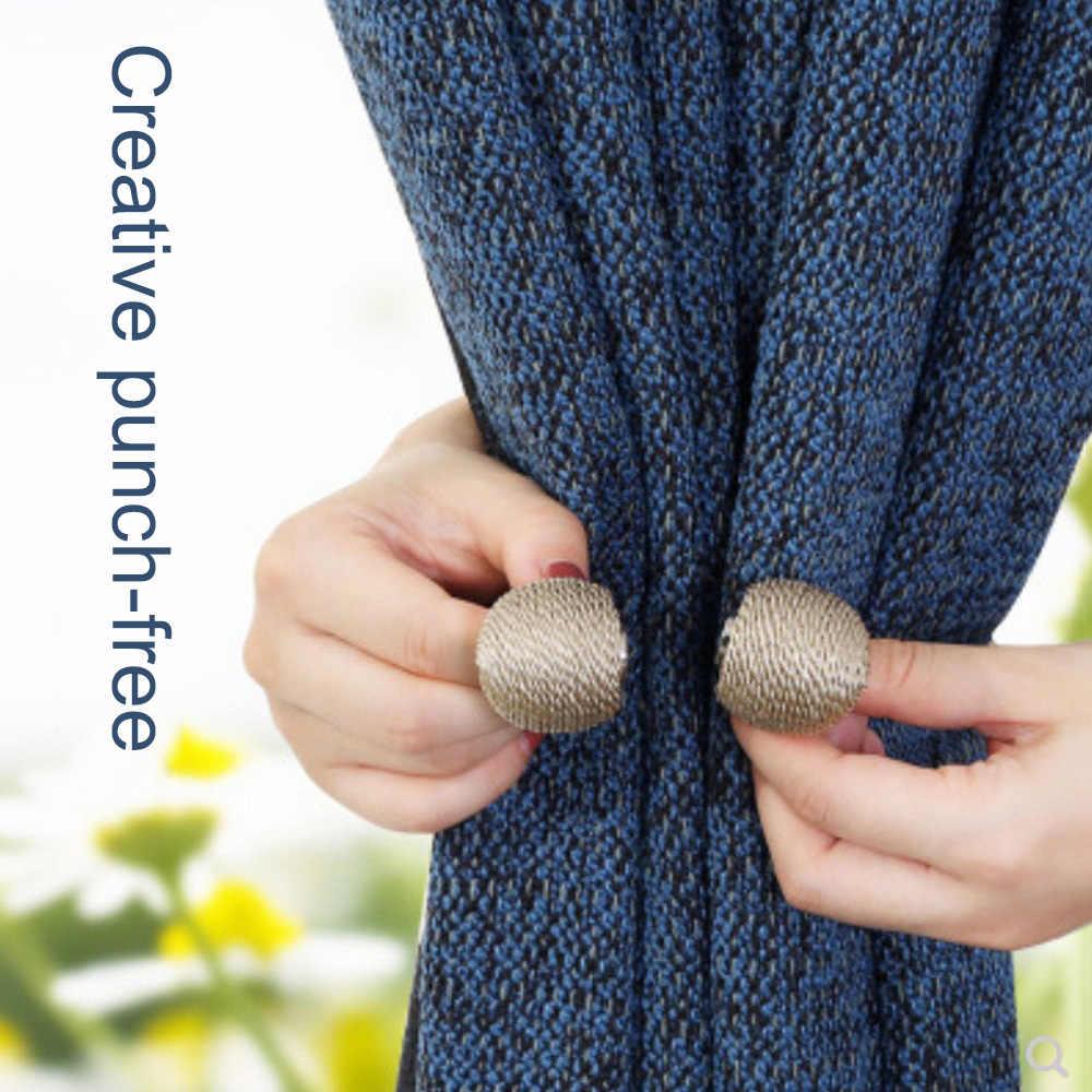 1 個磁気真珠ボールカーテン Tiebacks は Holdbacks バックルクリップアクセサリーカーテンタイバックロッド Accessoires