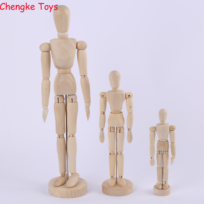 2017 Artist Movable Limbs Male Wooden Toy Figure Model Mannequin bjd Art Sketch Draw Action Figures Toy