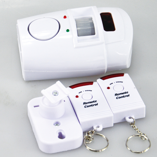 Home Alarm Security System Wireless PIR Infrared Motion Sensor Detector With 2pcs Remote Controllers Door Window Anti-Theft
