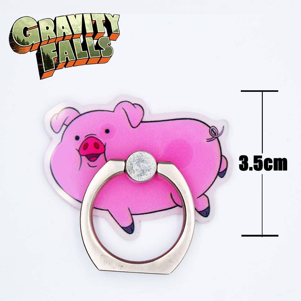 OHCOMICS Hot Gravity Falls Bill Cipher Mabel Dipper Waddles 360 Degrees Square Ring Stand Mount Holder Mobile Phone Stents