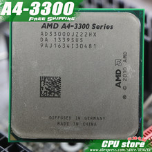 Free shipping AMD A4 3300 Dual-core FM1 2.5GHz 1MB 65W CPU processor pieces A4-3300 APU Integrated graphics,there are, sell 3400(China)