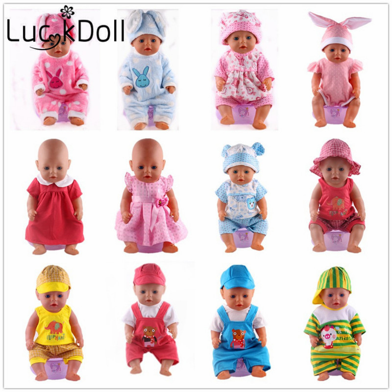 Luckdoll Various fashion suits fit for 43 cm Baby Born Doll or 18 inch American Girl Doll Accessories