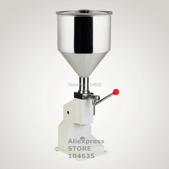 Free Shipping best price in Aliexpress Manual Filling Machine (5~50ml) for cream e liquid paste  food filling machine supplier