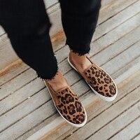 Puimentiua/Женская обувь на плоской подошве; Новинка 2019 года; женские леопардовые Лоферы со змеиным принтом; обувь без застежки на мягкой подошве...