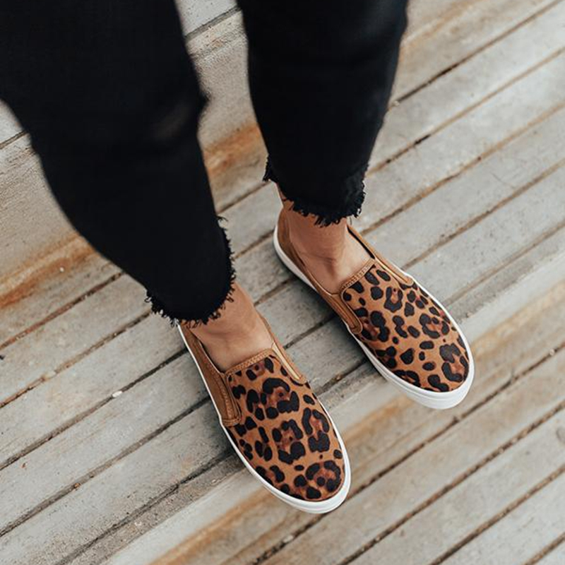 Puimentiua Women flat shoes 2019 new female leopard snake loafers soft bottom one pedal lazy shoes women slip on flats