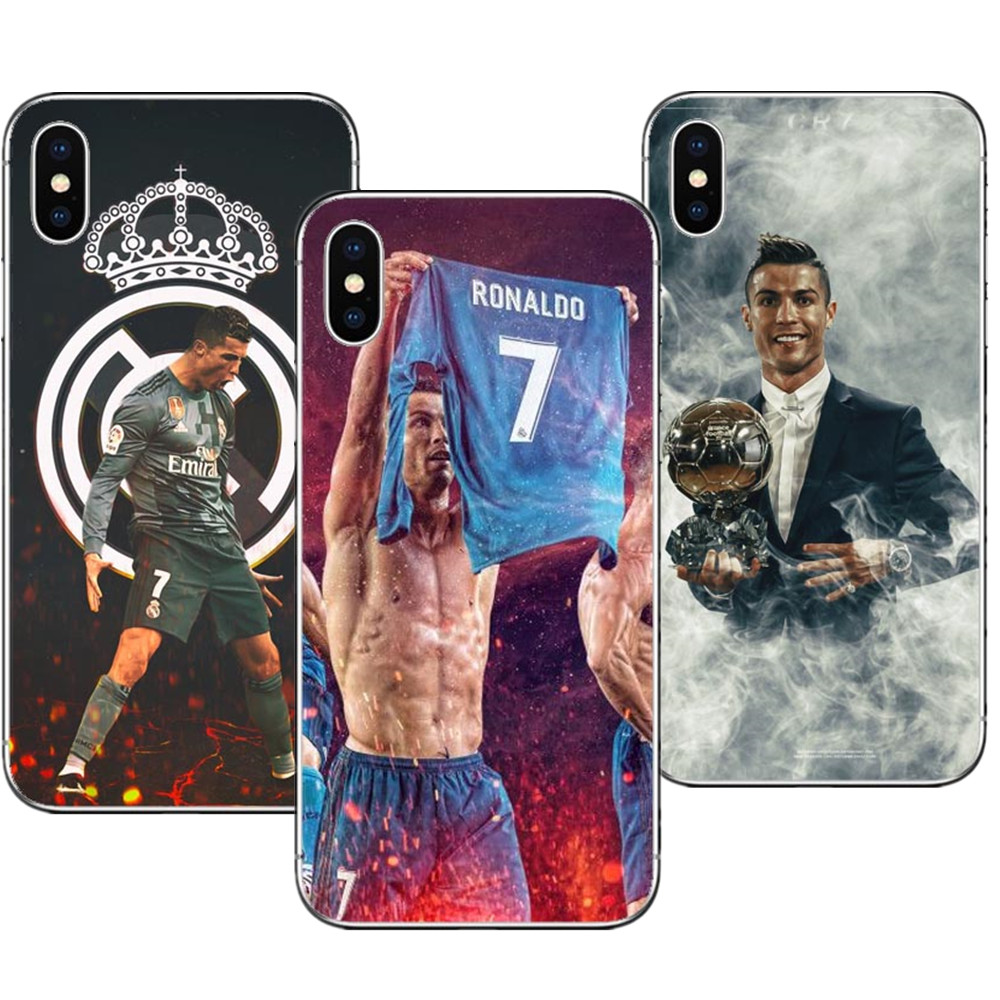 2019 Fashion Cristiano Ronaldo Cr7 Football Star Hard Plastic Phone Cases Cover For Iphone 6 6s 7 Xr Xs Max 8 8 Plus 5s Se X 10 Coque Capa Easy To Repair