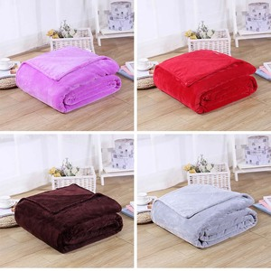Image 3 - CAMMITEVER 24 Colors Home Textile Solid Air/Sofa/Bedding Throw Flannel Blanket Winter Warm Soft Bedsheet 150/180*200cm 200*230cm