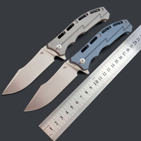 CH Tools CH3009 D2 Blade Titanium TC4 Handle Folding Knife Camping Hunting Collectioon Outdoor Tactical EDC Hand Tool knives