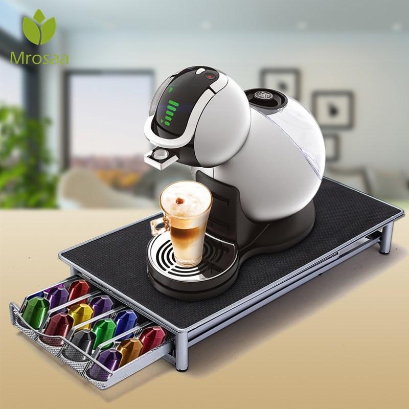 36 чашка Nespresso Кофе капсулы Pod держатель для хранения стойки ящики Нержавеющаясталь Кофе капсулы полки Организация дело