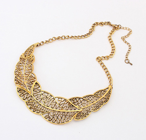 Hot Selling Jewelry Fashion Vintage Leaf Pednats Statement Necklace For Woman 2016 New collar necklaces & pendants Sale N083