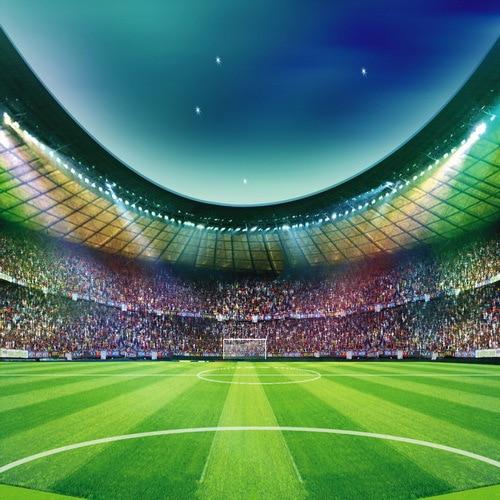 10x10FT Blue Night Sky Futebol Campo de Futebol Estádio