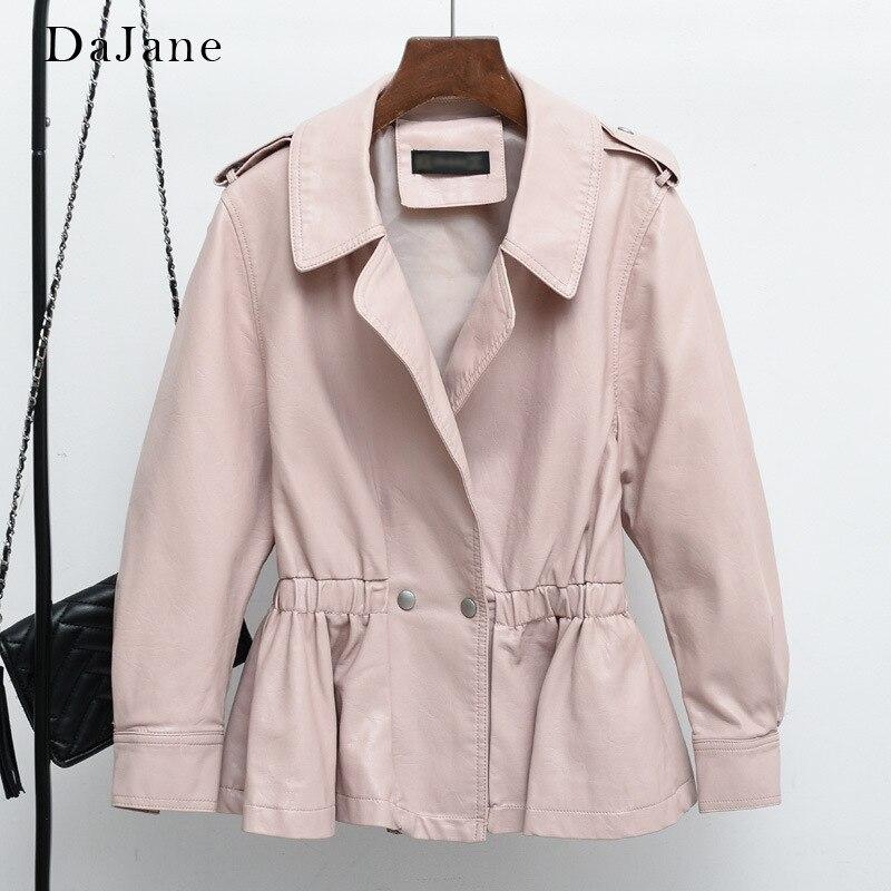 Nine-sleeve Sleeves women's skirts,   Leather   jackets, DaJane new-style waists, Korean version, slim, Short Pu Jackets