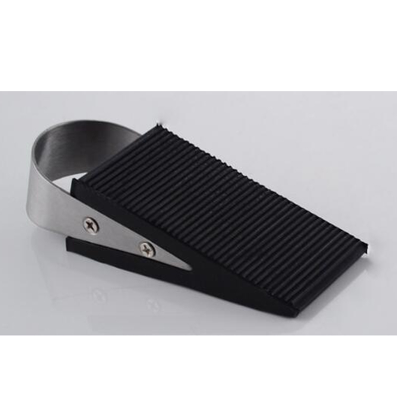 2pcslot portable solid rubber doorstop door nonslip wedge shaped heavy duty rubber floor door stop