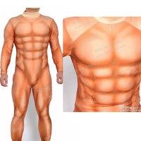 YOY ZENTAI высокое качество супер герой подкладка для мышц костюм с искусственной мускулатурой