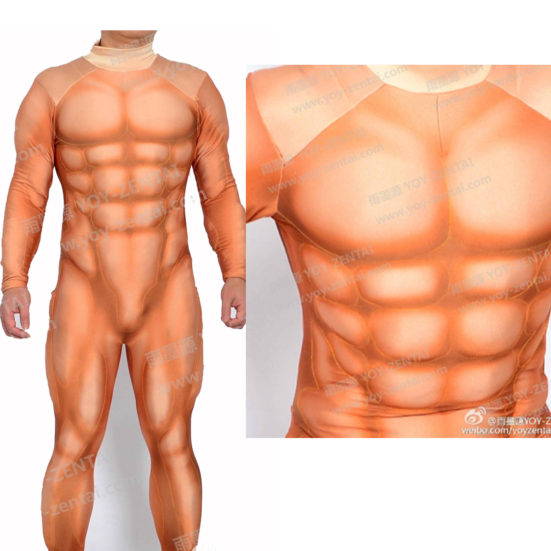 YOY ZENTAI High Quality Super Hero Muscle Padding Costume Muscle Suit