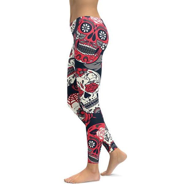 641c184d6369d FRECICI Digital Printed Women Leggings Sugar Skull Ombre Printing Fitness  Workout Legging Pants Plus Size Leggings Pants S ~4XL -in Yoga Pants from  Sports ...