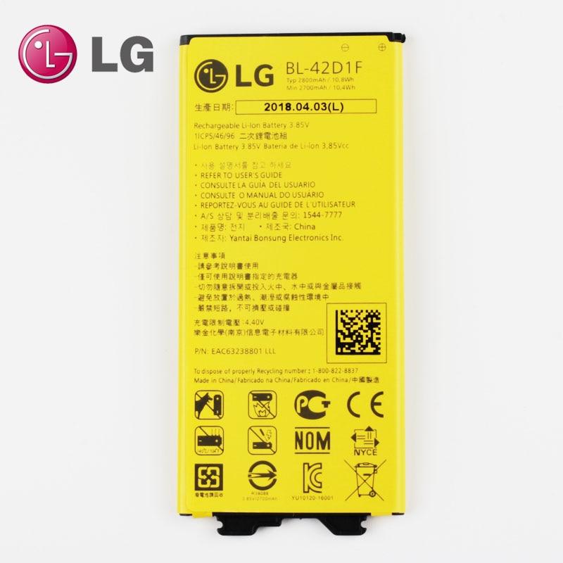 Original NOVO LG Bateria para LG G5 VS987 BL-42D1F US992 H820 H850 H868 H860 2800 mAh
