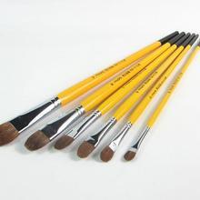 6pcs/Set,Van Gogh weasel hair brush gouache watercolor painting pen acrylics