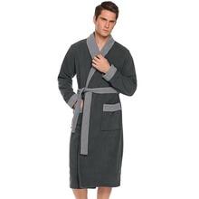 Men's Soft Long Fleece Robe