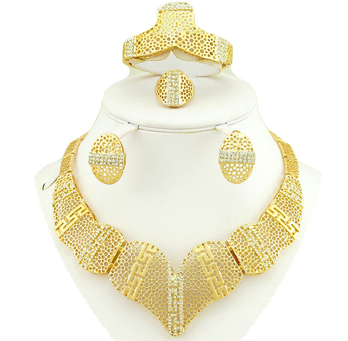 buy african jewelry sets wedding jewelry sets gold women neck lace from. Black Bedroom Furniture Sets. Home Design Ideas