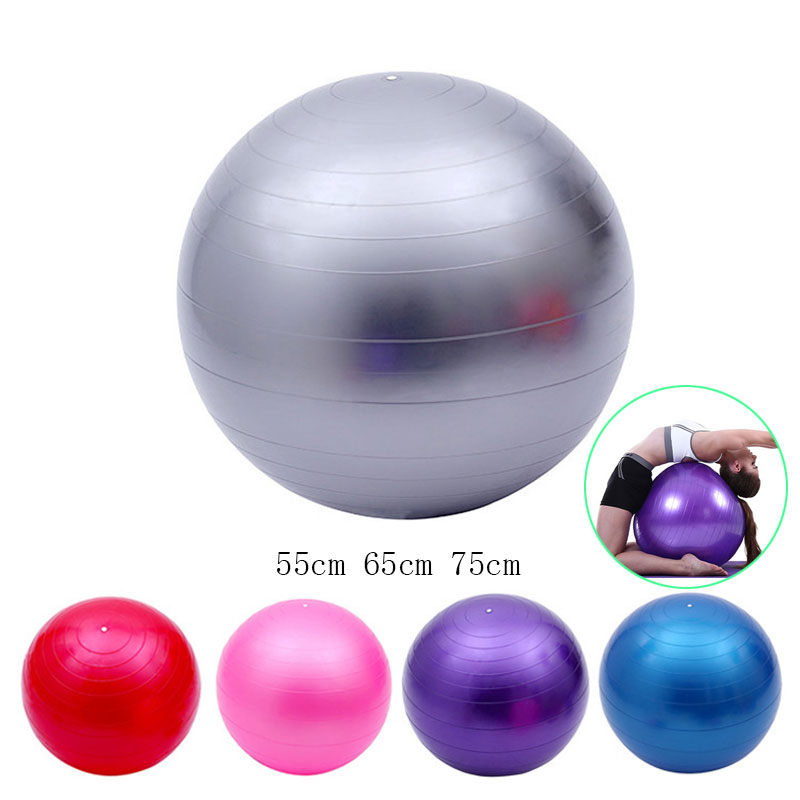 55 65 75cm Yoga Fitness Ball Sports Yoga Balls Bola Pilates Fitness Gym  Balance Sport Exercise Pilates Workout Massage Ball A-in Yoga Balls from  Sports ... f8c95c34b7b4e