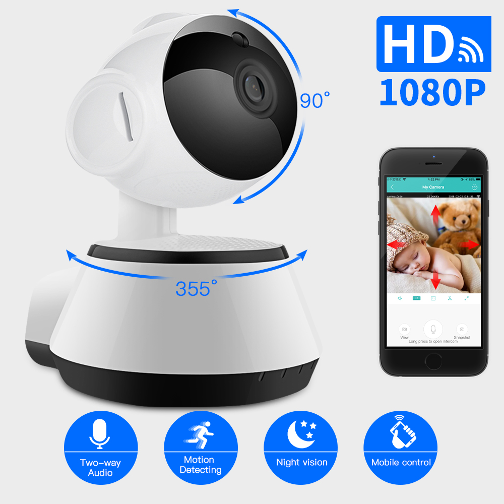 SDETER 2MP 1080P WIFI Camera IP Wireless Home Surveillance Security CCTV Camera IR Night Vision Baby Monitor Two Way Talk WIFI цена и фото