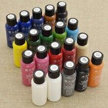 Tinta para tinta fosca 30ml, tinta artesanal de couro faça você mesmo luzes destaques para tintura de óleo pintura profissional