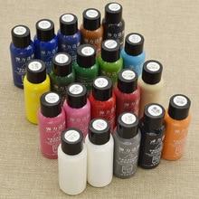 Pintura al óleo de 30ml con borde de cuero hecho a mano, Color mate, pintura profesional, pintura de cuero artesanal