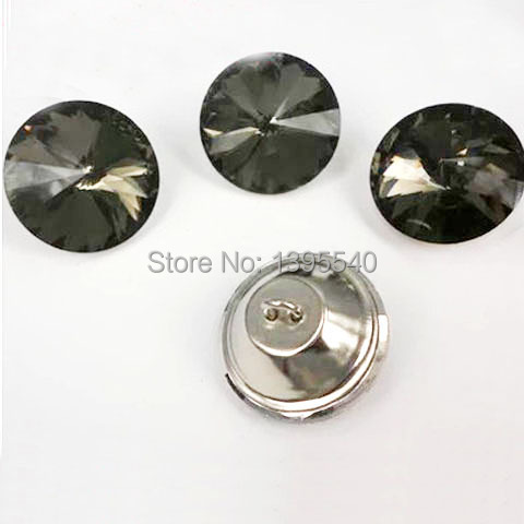 New 30mm Grey Satellite Crystal Glass Button For Sofa Industry Decoration  Fileds Soft Crystal Button KTV