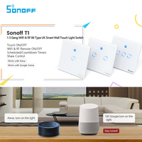 Sonoff T1 1 2 3 Gang WiFi Smart RF APP Touch Control Wall Light Timer Switch
